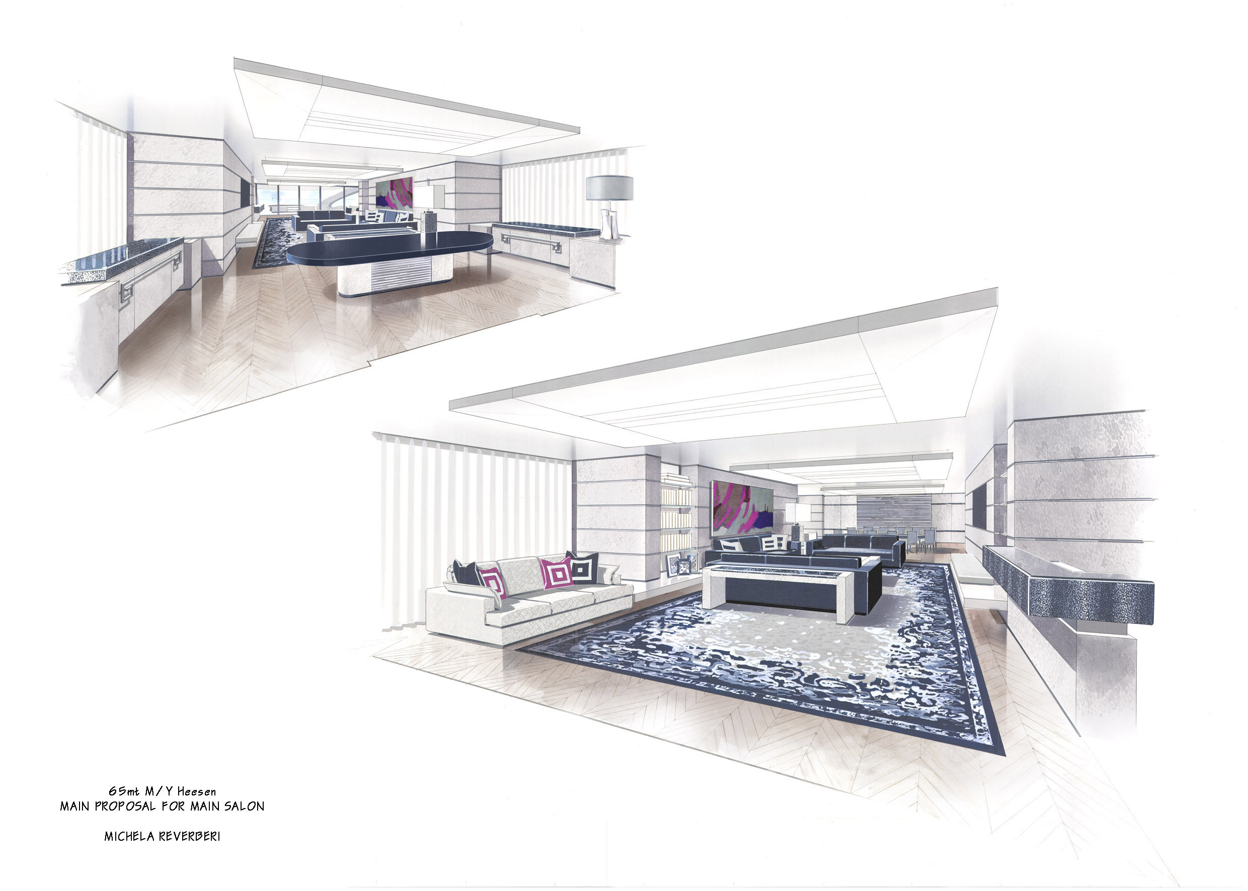 Michela Reverberi Designed Interior For The Motor Yacht Quinta Essentia By Heesen Rendering