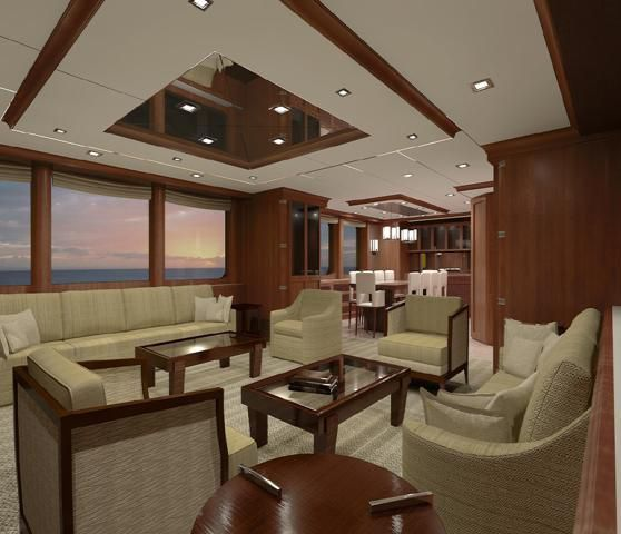 N120 explorer yacht Interior by Nordhavn  Yacht Charter