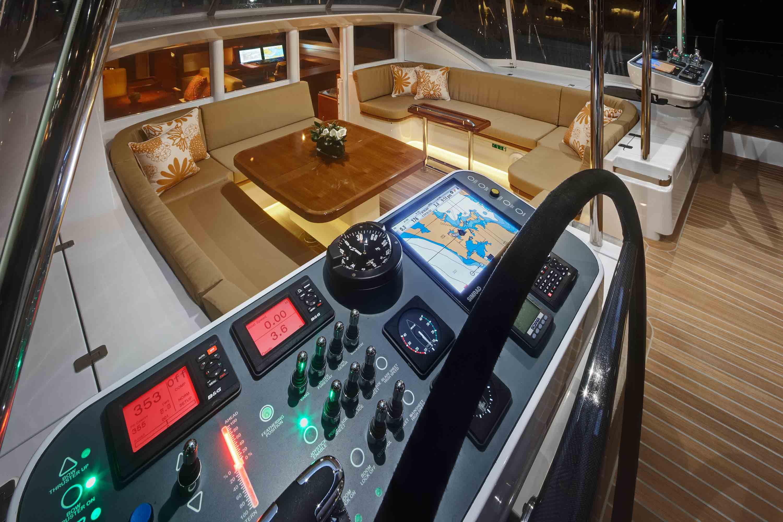 Sailing Yacht Antares III Cockpit Yacht Charter