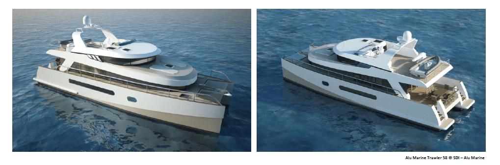 Alu Marine 58 Trawler Yacht By Sterling Design