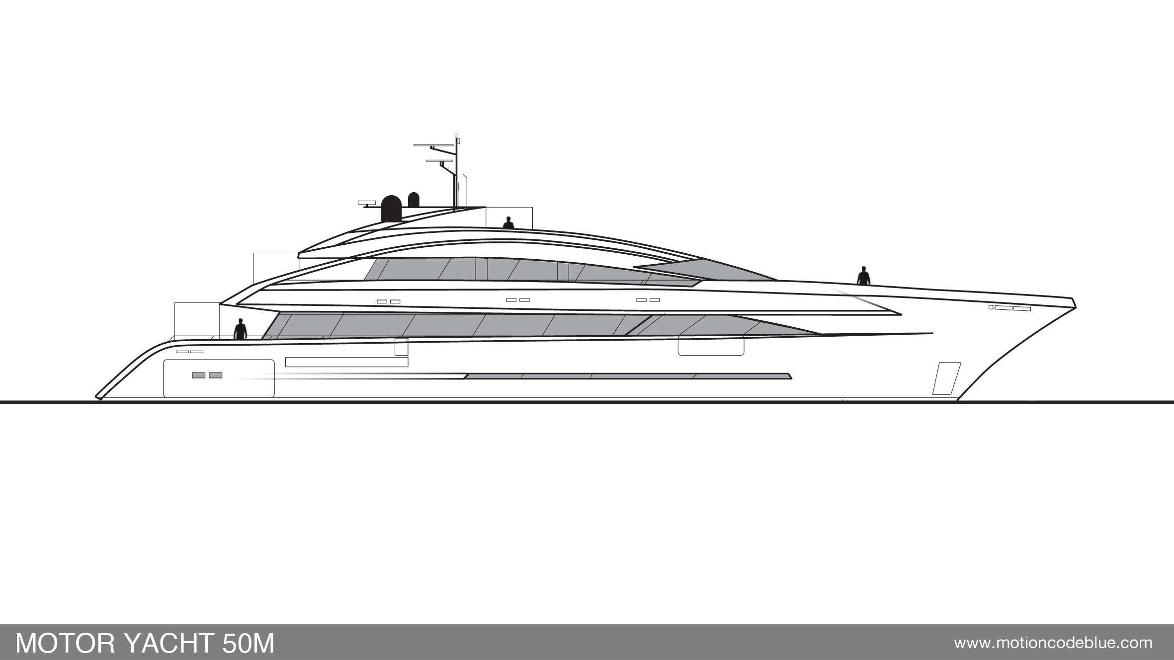 50m Motion Code Blue Yacht Design