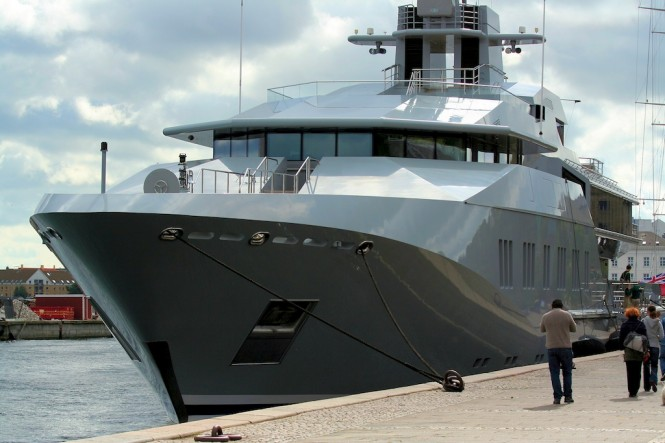 Five Magnificent Superyachts At The Copenhagen Harbour Including Benetti Charter Yacht Starfire