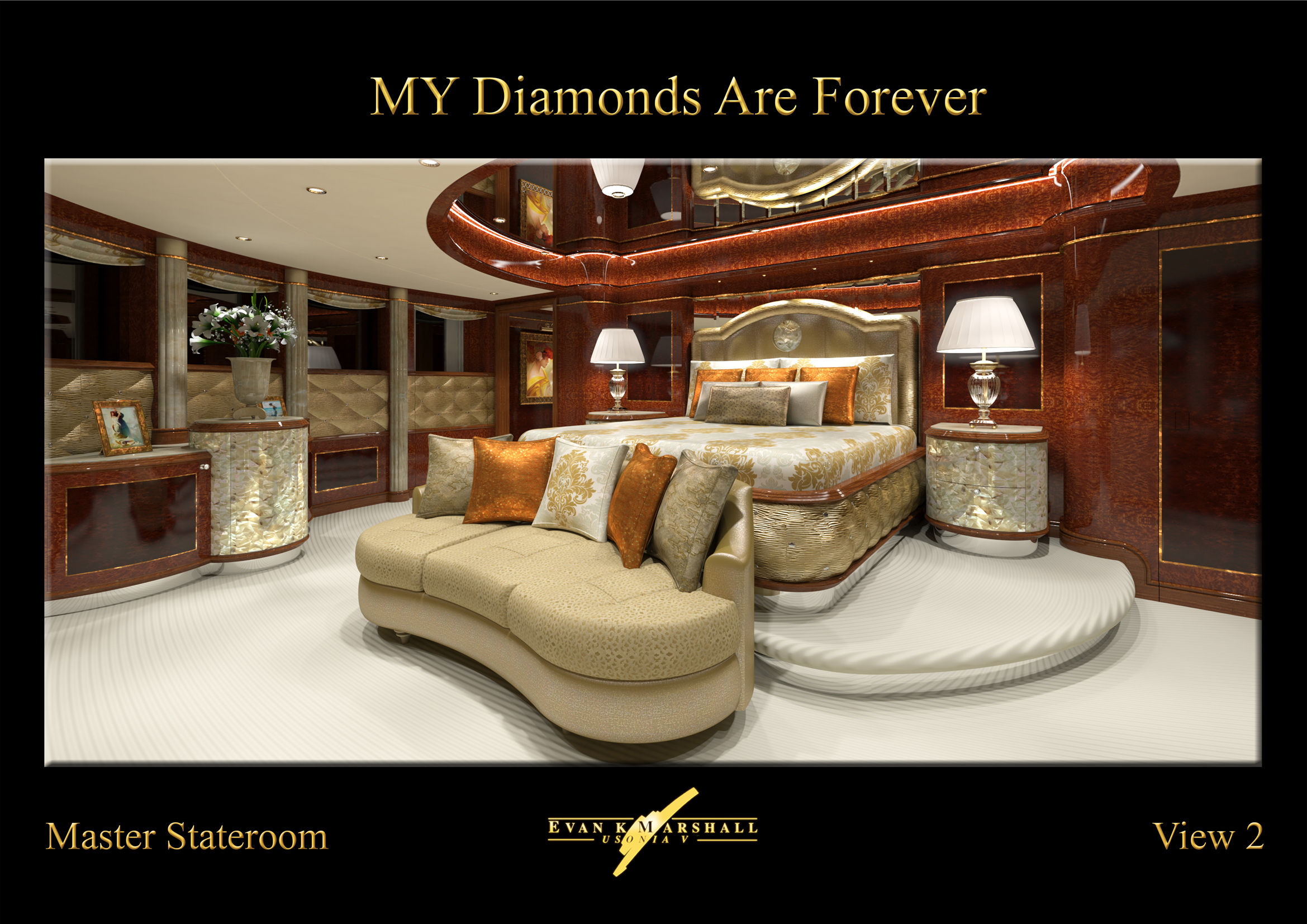 FB253 Megayacht Diamonds Are Forever Master Suite Yacht