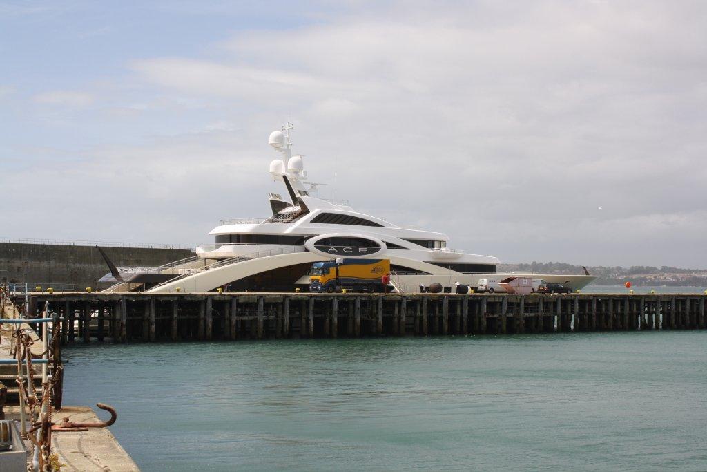 87m Lurssen Megayacht ACE In Portland Harbour Yacht