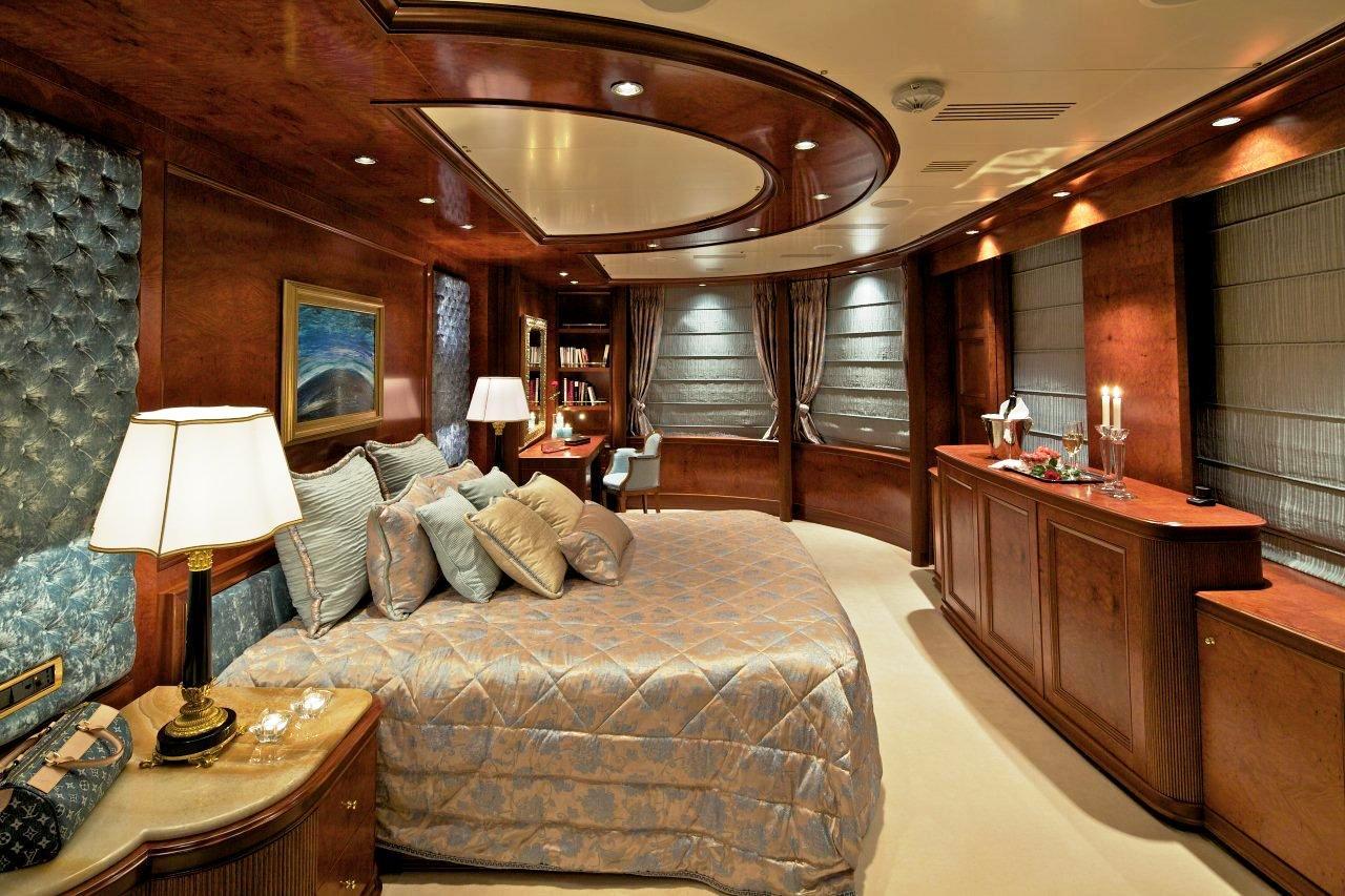 Master Stateroom Aboard Luxury Yacht OMEGA Luxury Yacht
