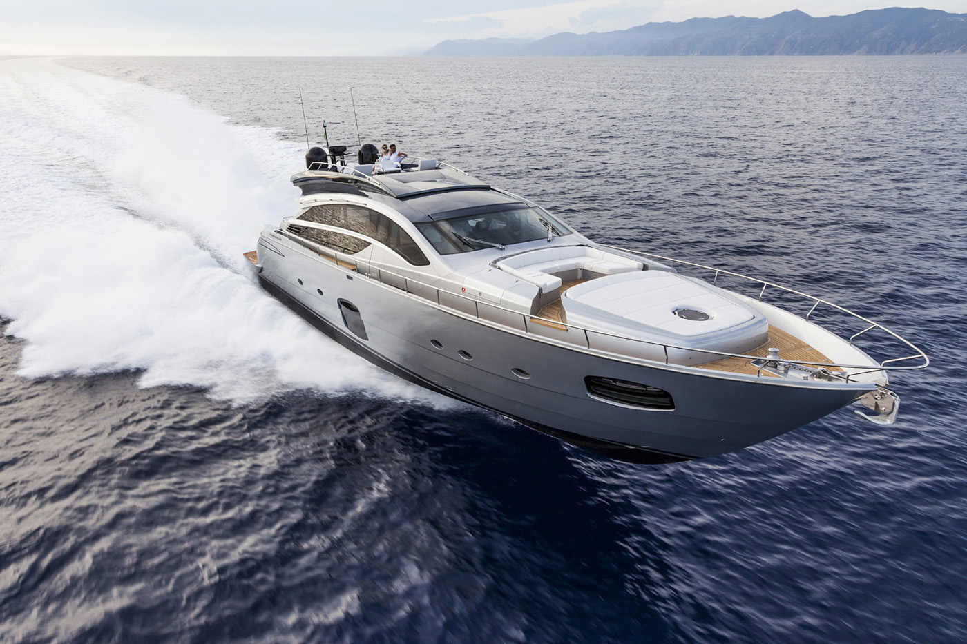 Superyacht Pershing 82 Front View Yacht Charter