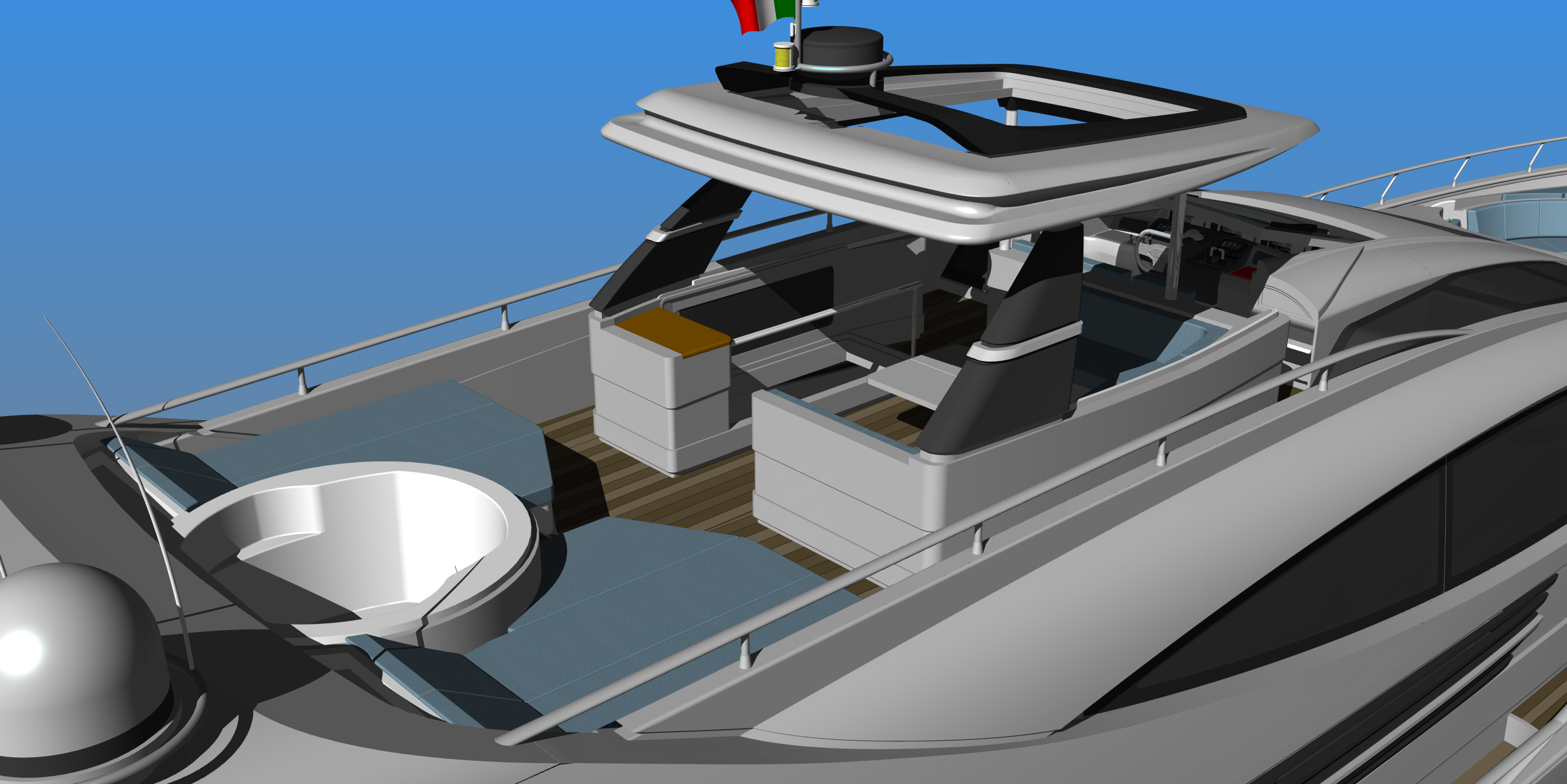 Cerri 102 FlyingSport Yacht Hull Number 3 Yacht Charter