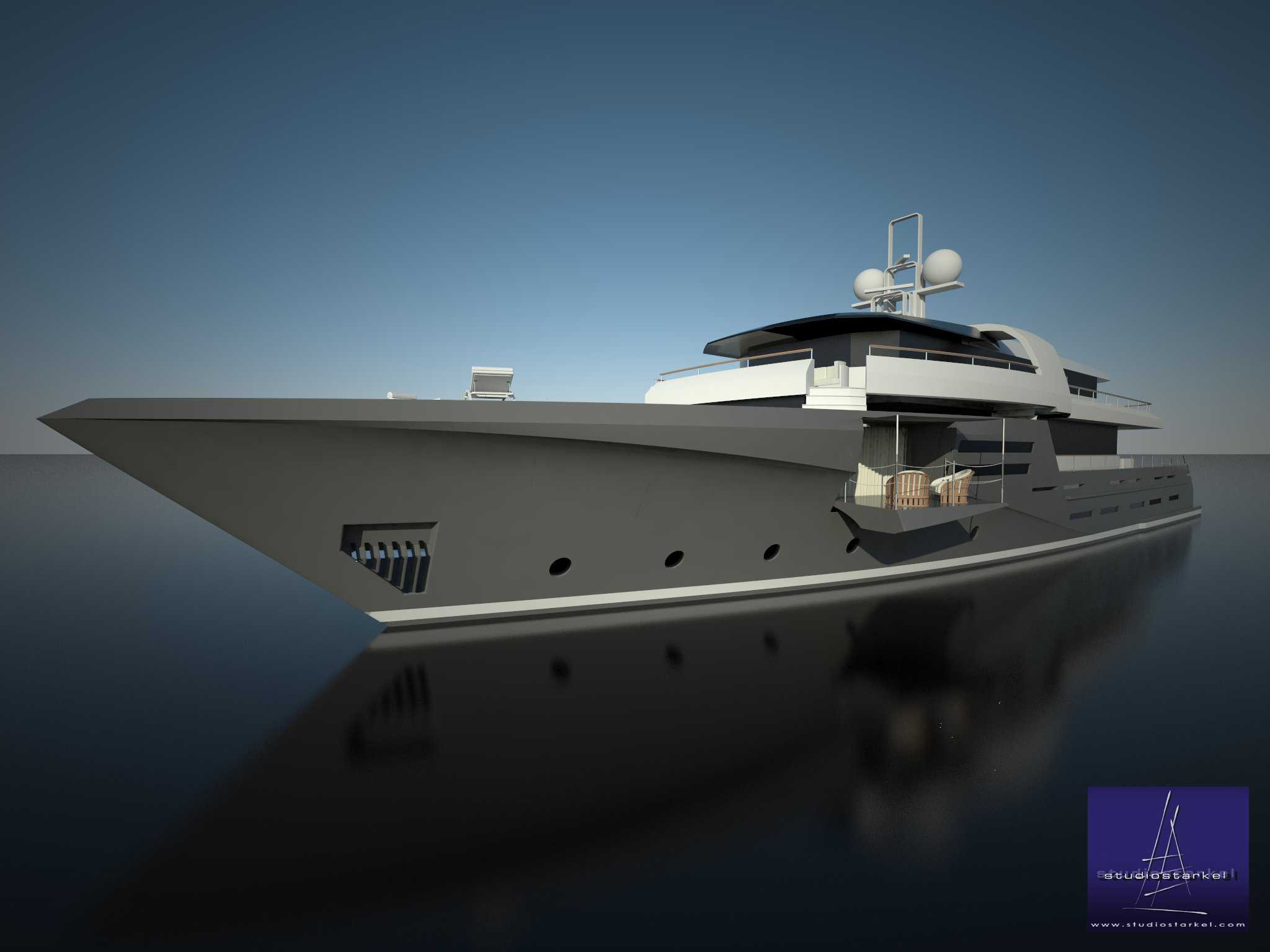44m Diesel Electric Yacht Concept  Yacht Charter