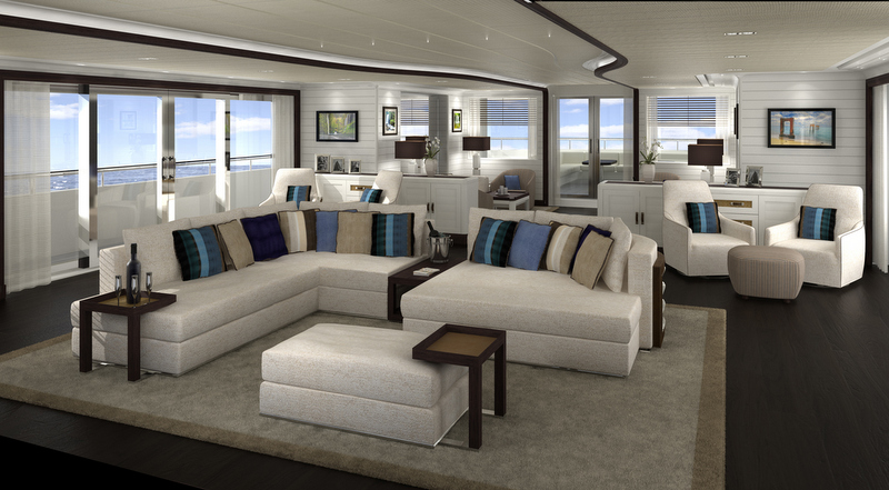 Motor Yacht FOREVER ONE Main Saloon Yacht Charter