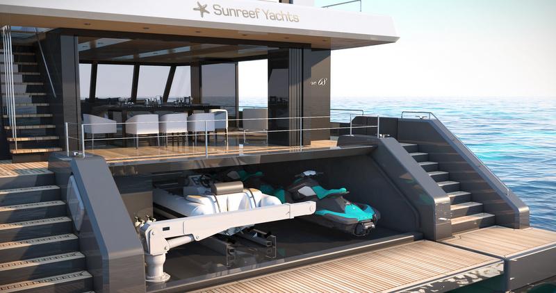 Sunreef Supreme 68 Aft Garage View Yacht Charter
