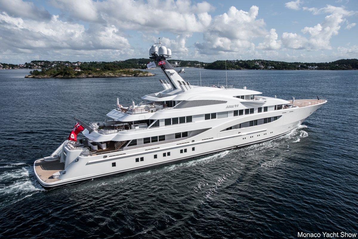 Lurssen Luxury Yacht ARETI Photo Credit Tom Van