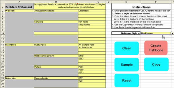 ishikawa fishbone diagram template simple boat light wiring in excel automated