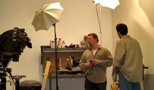 Chase-It Marketing Founder, Colin Chase, on the set of an Online Video Production