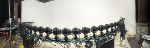 time slice rig with 50 cameras