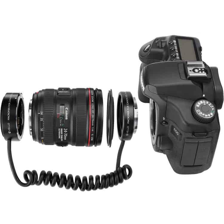 Vello Macrofier shown on Canon camera