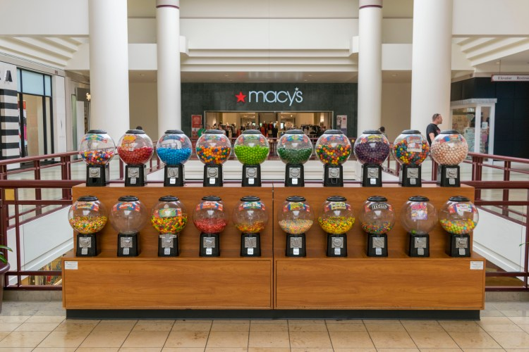 Candy machines at the Rosedale Shopping Center