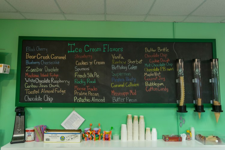 All 40 of the ice cream flavors at Patti's in Roseville