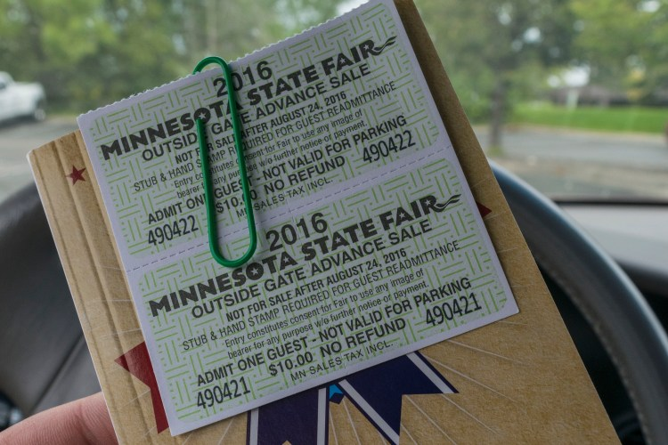 Tickets to the Minnesota State Fair