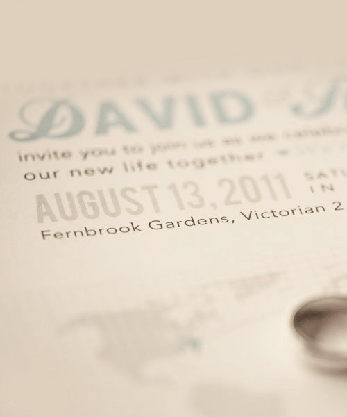 Day 27: Fonts our wedding invites are made of