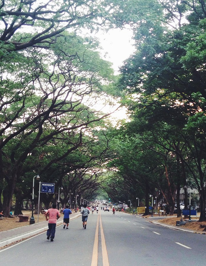 """An afternoon at UP Diliman, and thoughts about """"being all there"""""""