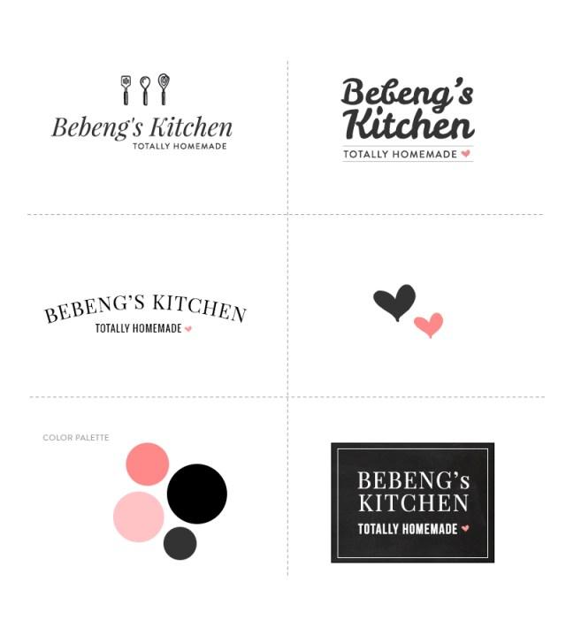 Bebeng's Kitchen Logo Studies