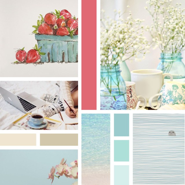 Inspiration Board - Blue, Beige and Marsala