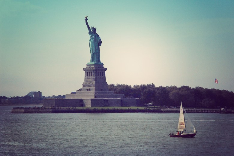 Lady Liberty, view from Staten Island Ferry