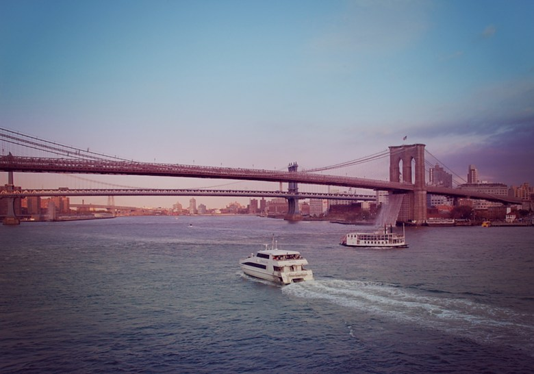 Brooklyn Bridge, view from South Street Seaport
