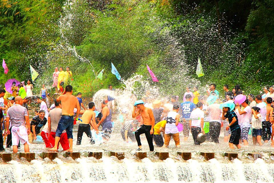 songkran festival thailand asia