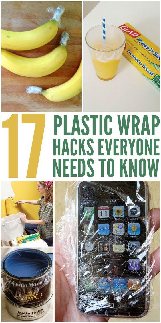 17 plastic wrap hacks