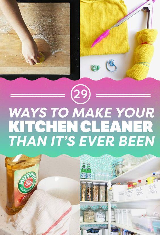29 ways to make your kitchen cleaner