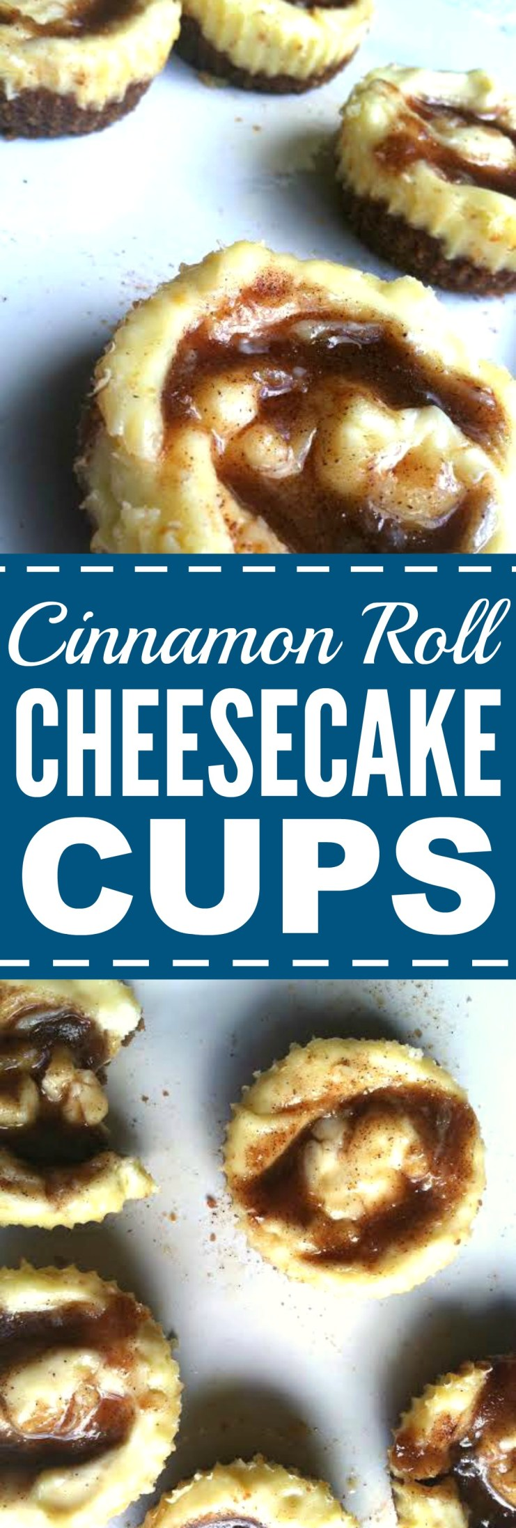 These no bake cinnamon roll Cheescake cups are THE BEST! I'm so glad I found this AMAZING dessert recipe! Now I have a great holiday or fall recipe or anytime recipe really! Thank you for this!