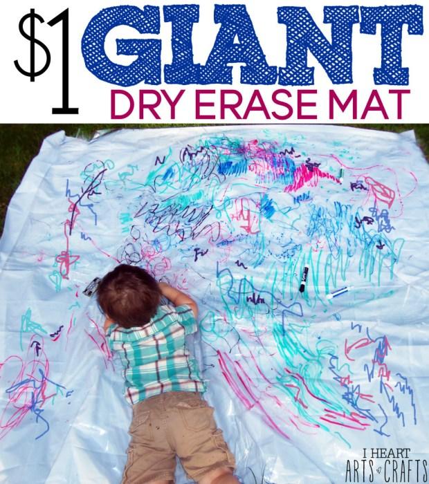 $1 GIANT DRY ERASE MAT