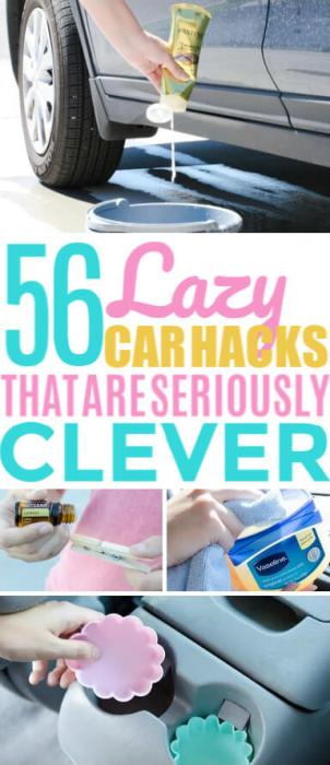 Car cleaning hacks pin