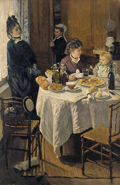 """The Luncheon"" painted by Claude Monet in 1868."