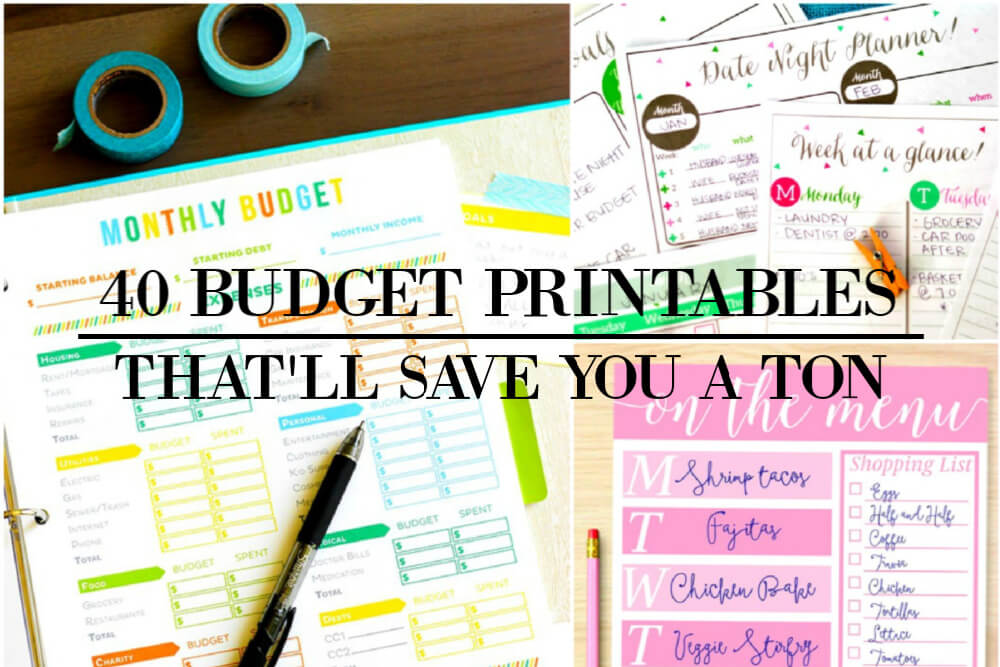 40 Free Budget Printables That'll Save You A Ton