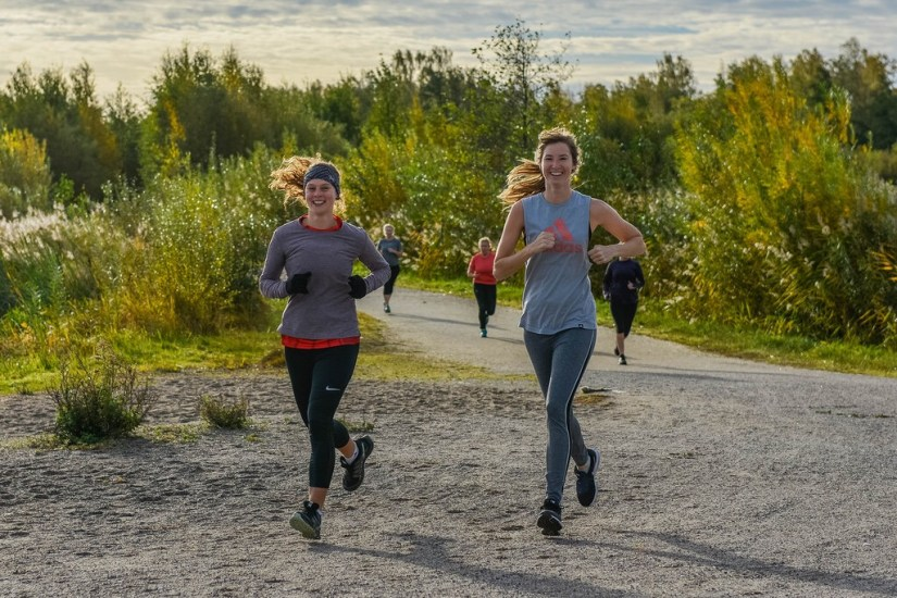 Runners in action on the parkrun course