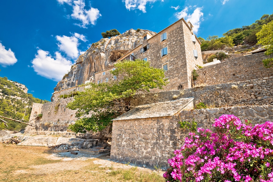 Blaca Hermitage On Brac Island In Summer