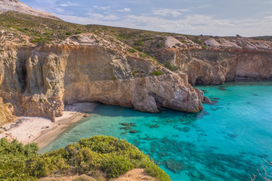 Tsigrado beach, Milos island, Cyclades, Greece - Sandy Beaches In Greece