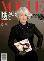 Meryl Streep Miranda Priestly Vogue cover mockup