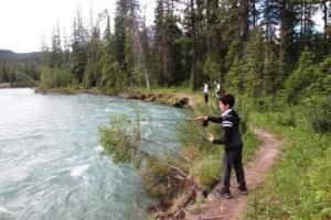 Fishing Maligne River
