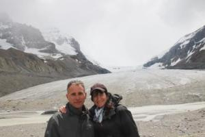 In front of Athabasca Glacier