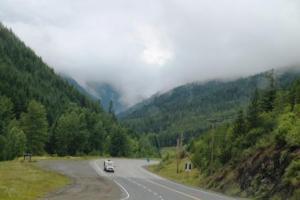 road through manning provincial park