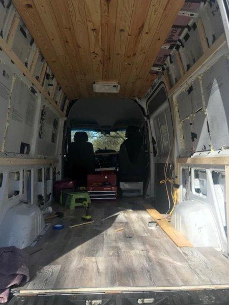 Flooring plan ideas for a sprinter campervan