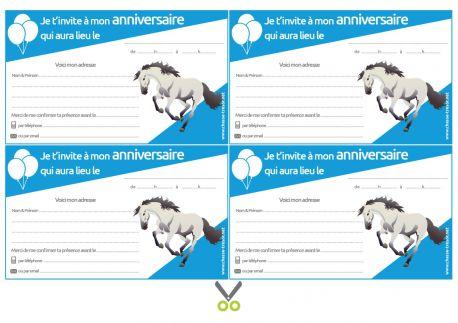 invitations a imprimer pour anniversaire chevaux