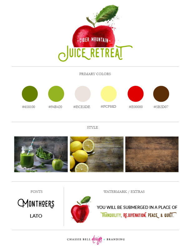Cider Mountain Juice Retreat | Chassie Bell Design and Branding