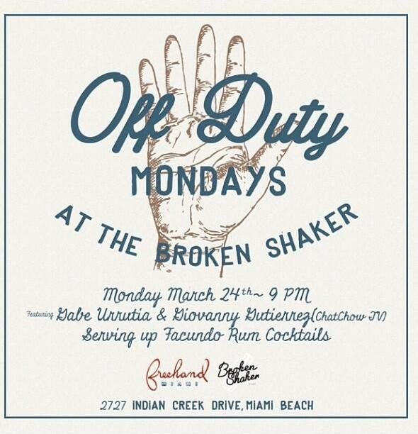 "Broken Shaker's ""Off Season, Off Duty Mondays"""