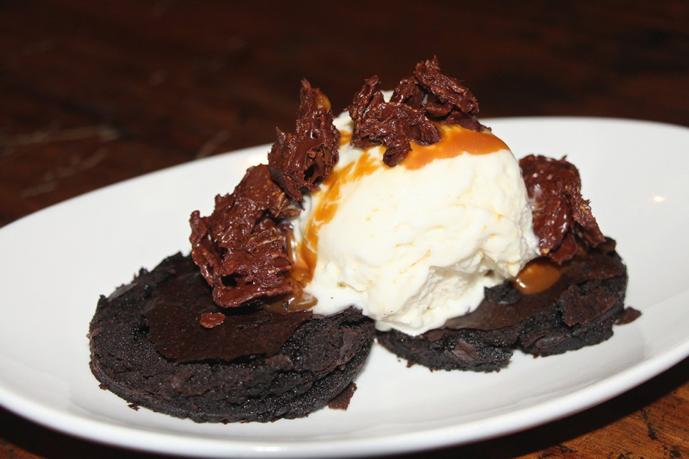 Frida's Secret – mexican chocolate brownie, @Azucar sweet corn ice cream, chocolate corn flakes