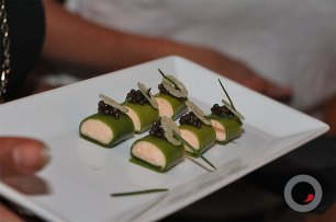Smoked salmon mousse With chive pain de mei and osetra caviar