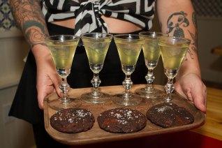 Clarified Milk Punch & Cookies – Triple Chocolate Cookies, Maldon Salt